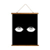 "Whimsical Wood Slat Tapestry ""Big Eyes"""