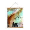 "Whimsical Wood Slat Tapestry ""From the Heavens"""
