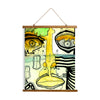 "Whimsical Wood Slat Tapestry ""Half Full"""