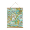 "Whimsical Wood Slat Tapestry ""Honeydew Ocean"""
