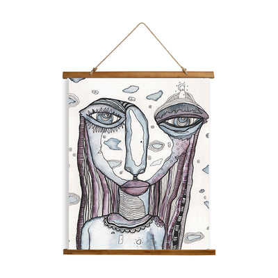 "Whimsical Wood Slat Tapestry ""In Her Dreams"""