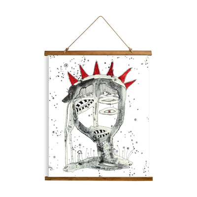"Whimsical Wood Slat Tapestry ""King"""
