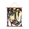 "Whimsical Wood Slat Tapestry ""New Man"""