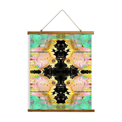 "Whimsical Wood Slat Tapestry ""Over The Rainbow 2"""