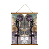 "Whimsical Wood Slat Tapestry ""Purple Rain"""