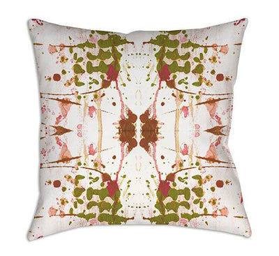green white abstract pillow