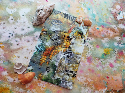 part of everything card mixed media art