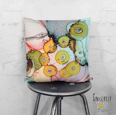 Art Throw Pillow 'Dance With Me II'