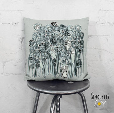 Art Throw Pillow 'Garden Creatures'