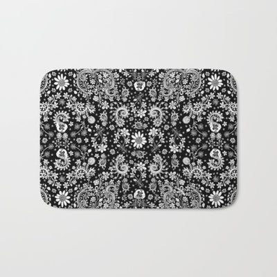 black-white-hand-drawn-floral-bath-mats