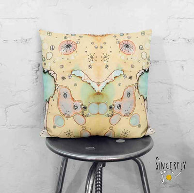 Art Throw Pillow 'I See You 3'