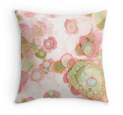 Floral Throw Pillow 'C Floral 01'