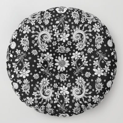 Floor / Meditation Cushion 'Birds of a Flower'