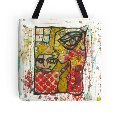 a kiss take a walk tote bag b