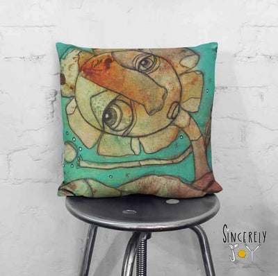 Art Throw Pillow 'For You II'
