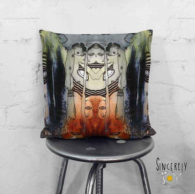Art Throw Pillow 'Source 1'