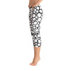 Abstract Capri leggings, Workout Pants 'BW Bubbles'