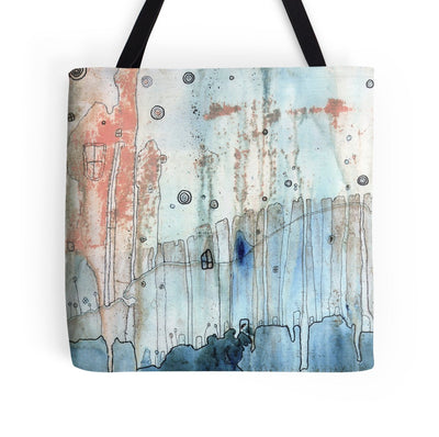 Tote bag 'Moody City' featured in Haute Handbags