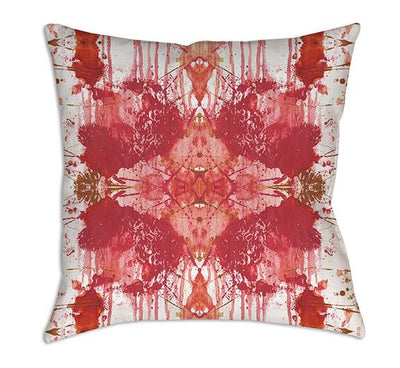 pink white abstract throw pillows