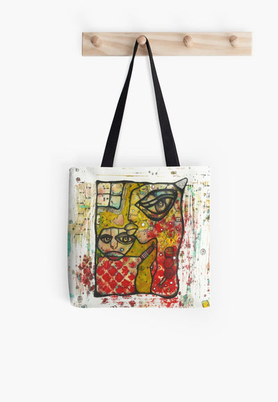 a kiss take a walk tote bag