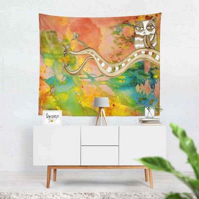 wall art tapestry 'surreal owl 2'