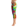 Abstract Capri leggings, Workout Pants 'Multi-Directional'