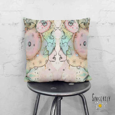 Art Throw Pillow 'Turn Around 2'