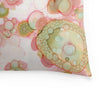 organic in pink abstract throw pillow