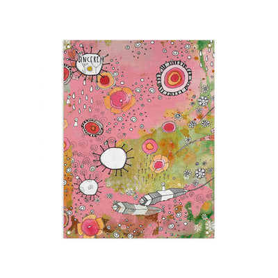 'feathers, flowers, showers' pink wall tapestry home accessories