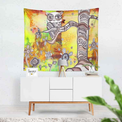 wall art tapestry 'surreal owl 3'