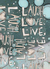 Blue Organic Live Love Laugh