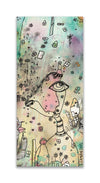 Original Mixed Media Fine Art on Wood 'I can hear you'