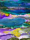 Original Abstract Fine Art 'Purple Mountain'