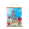"Whimsical Wood Slat Tapestry ""Surf on a Cinnamon Stick"""