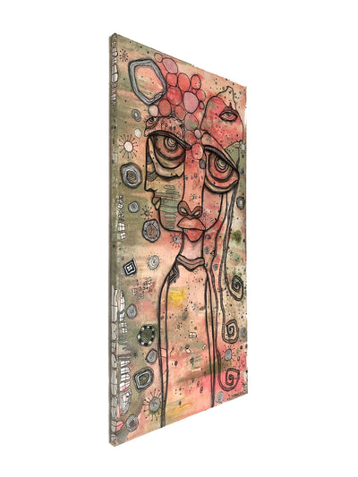 Original Mixed Media Fine Art on Canvas 'Waiting'