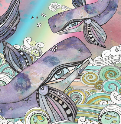 Wall Art Tapestry 'Whales'