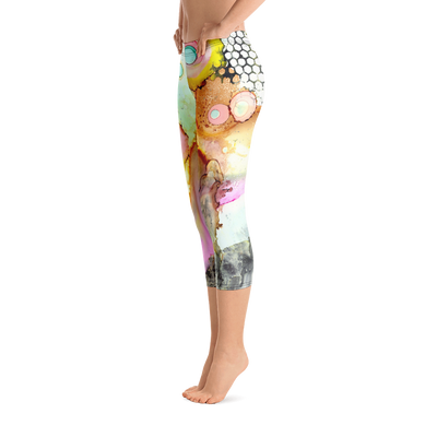 Abstract Workout Leggings 'Over the Rainbow'