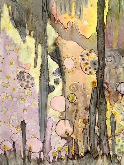 Original Mixed Media Fine Art 'in the cave'