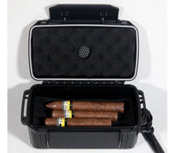 Black Pearl 15 Cigar Waterproof Perfect Seal Crush Proof Travel Humidor