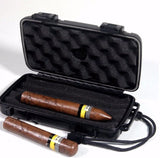 Black Pearl 5 Cigar Waterproof Perfect Seal Crush Proof Travel Humidor