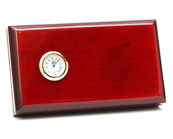 "5 Cigar ""Seasoned Traveler"" Authentic Spanish Cedar Travel Humidor, Made in North America"