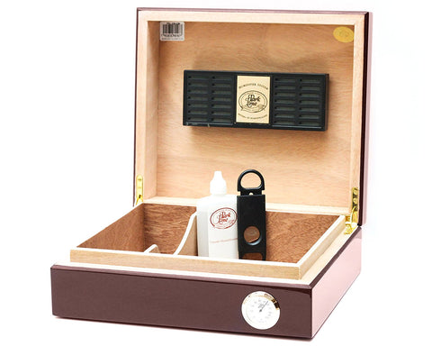 30 Cigar Authentic Hand Crafted Spanish Cedar Humidor by BCIC, Made in North America