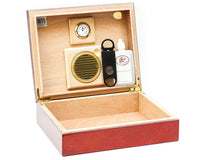 25 Cigar Authentic Spanish Cedar Humidor from BCIC with Internal Hygrometer
