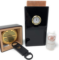 Cigar City Humidors Special Edition 16 Cigar Authentic Vertical Design (Spanish Cedar with Piano Black Finish)
