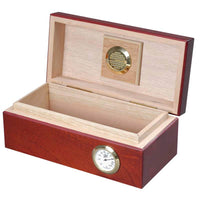 Cigar City Humidors™ 12 Cigar Limited Edition Small Spanish Cedar Humidor, Mahogany Gloss
