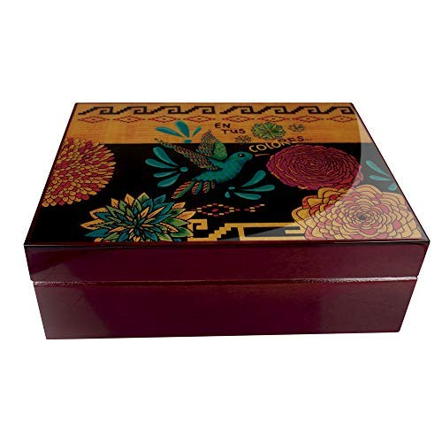 Main Image of Spanish Cedar Colores Humidor from Park Lane 125 Cigar