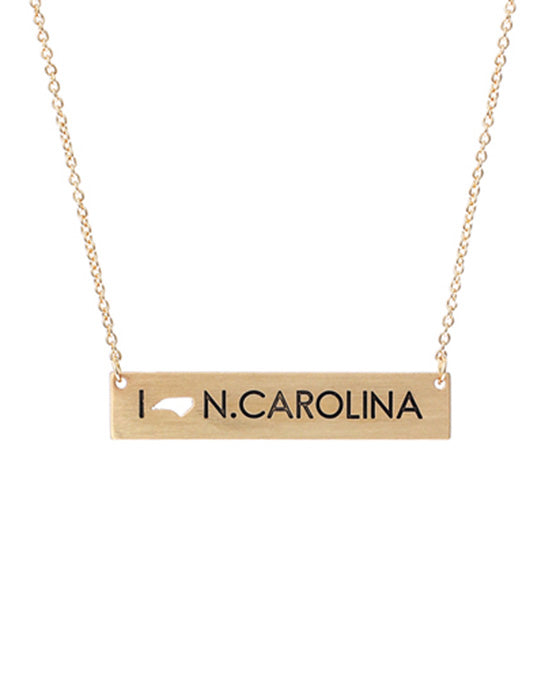 North Carolina Bar Necklace