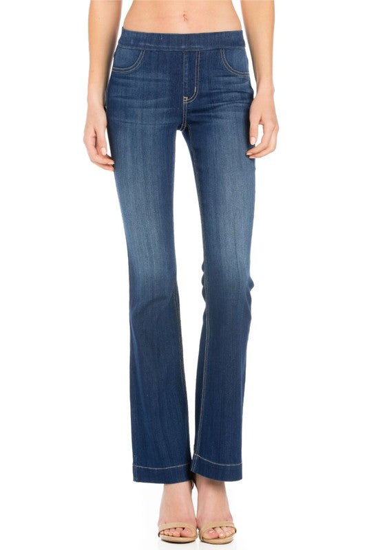 Denim Mid Rise Flare Jegging