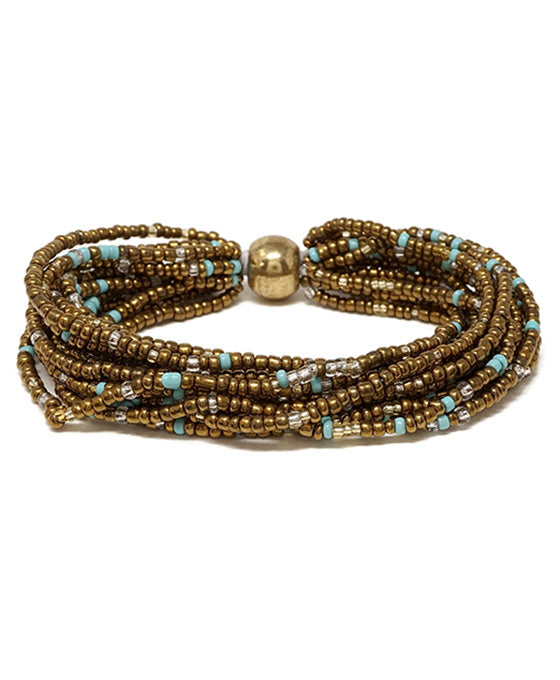 Seed Bead Multi Layer bracelet