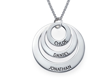Sterling Engraved Family Necklace